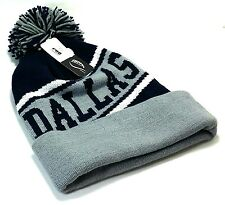Dallas Knit Beanie Toque Pom Cowboys Colors Fashion Blue Gray Cuffed Era Hat Cap