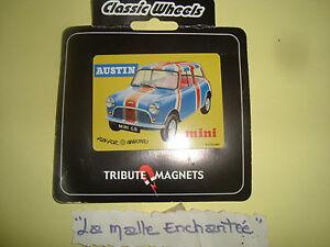 Imanes Clásico Wheels Austin Mini Bandera Inglés 8x6 CM