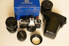 Like NEW Olympus OM10 boxed + manual adapter + Zuiko 28 3.5 + 35-70 + accessori