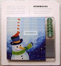 2016 Starbucks Christmas Snowman Cardinal Gift Card Original Pack of 5 0 Value