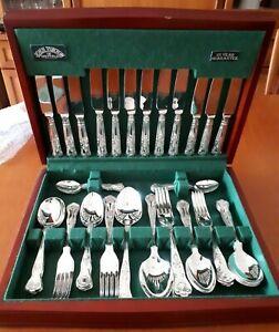 John Turton of Sheffield 44 piece Kings pattern Silver Plated Cutlery set