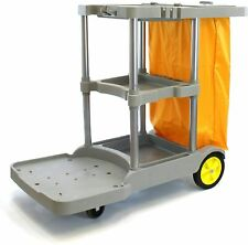 Commercial Janitorial cart, Heavy-Duty, 25 Gallon Yellow Bag with Cover.