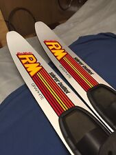 """New listing Ron Marks Rm Silver Bullet Graphite Combo Water Skis Slalom 67"""" Good!"""