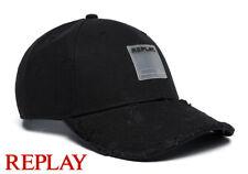 Look Destroyed Look Bonnet Cape de Replay Noir Femme Homme Casquette de Baseball