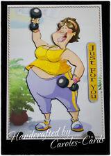PERSONALISED BIRTHDAY CARD NAME/AGE KEEP FIT SIS/NIECE/AUNT/MUM