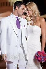 White Men Wedding Suits Groom Tuxedos Groomsmen Suits Evening Suits Custom Made