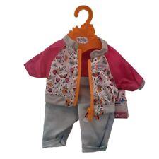 Zapf 824542 Baby born Puppenkleidung 43 cm Freizeitanzug Rosa / Blau
