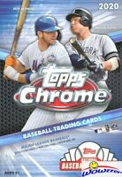2020 Topps Chrome Baseball Factory Sealed HANGER Box with Topps Update Previews!