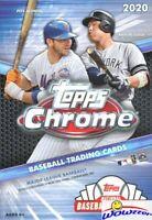 2020 Topps Chrome Baseball Factory Sealed HANGER Box with Topps Update Previews!
