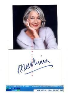 Dame Helen Mirren vintage signed page AFTAL #145