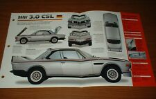 New listing ★★1973 Bmw 3.0 Csl Spec Sheet Brochure Info Specs Photo 1971-1975 71 72 74 75★★