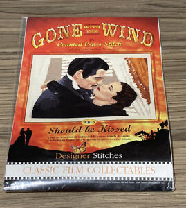 Cross Stitch Kit Gone with the Wind 'Should be Kissed' 8x12 inches