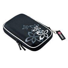 Qumox externe Festplattentasche 2,5 Zoll Tasche für Festplatten Schwarz (Blume)
