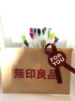 Japan MUJI Gel Ink Ball Point Pen 0.5mm 16 choice School Office Ballpoint MOMA