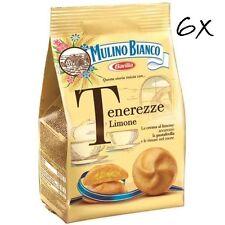 6x Mulino Bianco tenerezze al limone kekse Butterkeks Gebäck Sahne Zitrone 200g