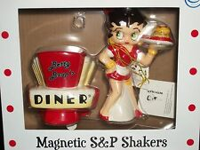 Betty Boop's Diner Magnetic Salt & Pepper Shakers New in Box by Westland