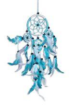 Traumfänger - Dreamcatcher - Türkis Weiß ca. 40cm x 9cm Durchmesser 5 Ringe
