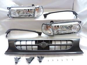 Clear Headlight Corner Grill+FILLER Conversion Kit For 91 92 93 94 B13 Sentra