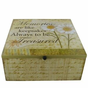 Daisy Memory Box Chest Memories Are Like Keepsakes Daisies  Wooden SG1334