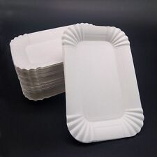 Buffet Disposable Dish Birthday Rectangular  Shaped Wedding Party Paper Plates