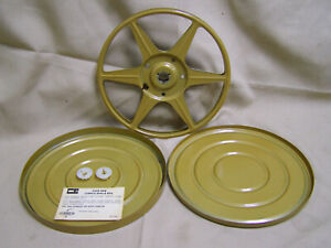 METAL FILM TAKE UP REELS W CANS Compco Dual 8 8mm super 8 400 ft NOS