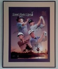 Greg Norman, Nick Faldo, Steve Elkington, Michael Bradley Signed PGA Golf Poster