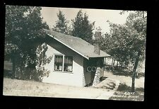 1930's RPPC Cabin #15 at Island View Lodge Gull Lake Brainerd MN B3283