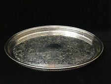 "Wm Rogers & Son 82G Silverplated Huge Oval Serving Tray, 21 6/8"" x 15 6/8"""