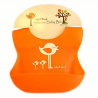 Baby Soft Waterproof Silicone bibs Easy Clean Most Convenient BEST feeding BIB
