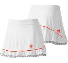 Adidas Damen Sport Rock 2in1 Laufrock + Tight Shorts Hosenrock Skort neon weiss