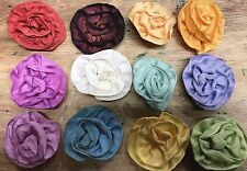 """Vintage Ribbon Flowers 1 3/4"""" Hand Made & Sewn 1pc Made in France"""
