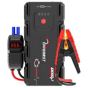 Rooboost Jump Starter 2000A Portable Power Bank Heavy Duty Booster