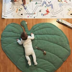 Infant Baby Leaf Shaped Playing Mats Floor Rug Game Crawling Carpet Home Decor
