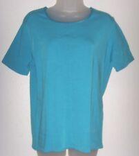 Women's Large turquoise blue short sleeve top (Worthington Stretch)