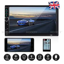 "Double DIN 7"" Car MP5 Player Bluetooth Stereo Touchscreen In Dash Radio USB AUX"