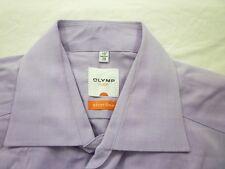 E8011 Olymp Luxor slim line Businesshemd Kombimanschette 38 lila glänzend