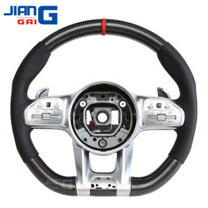 Upgraded Carbon Fiber Steering Wheel Fit For ALL Mercedes-Benz AMG E C CLASS