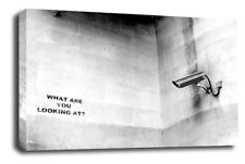 Banksy Abstract Wall Art Noir Blanc Gris Fille Ballon CCTV espions toile photo