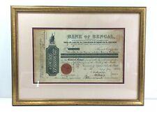 More details for original 1904 bank of bengal shares certificate framed