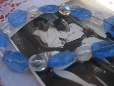 Kette Gablonzer Glasperlen ART DECO Twenties Schildkröte blau Gablonz blautopas