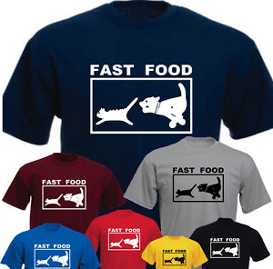 FAST FOOD Funny Gift Present New T-shirt