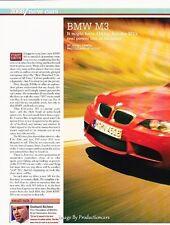 2008 BMW M3 Original Car Review Print Article J617