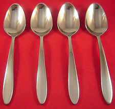 Oneida Mooncrest 4 Stainless Oval Soup Spoons NEW