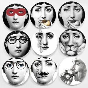 "Fornasetti Big Eye Lina Milan Decorative Ceramic Italy Wall Plate Home Office 8"""
