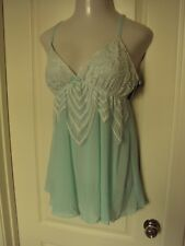 Cinema Etoile Chiffon Chemise with lace details Size Large Light Green