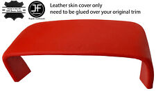RED REAL LEATHER SPEEDO COWL HOOD COVER FOR JAGUAR XJ40 XJR 1986-1994