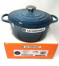 NIB Le Creuset Cast Iron 4 1/2-qt Round French (Dutch) Oven Marine Blue