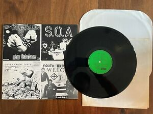 """FOUR OLD 7""""s ON A 12"""" 1985 DISCHORD 12"""" VINYL EX/EX - YOUTH BRIGADE TEEN IDLES"""