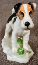 Wire Fox Terrier On Plinth Circa 1960's - Lot 15 5/1
