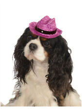 Medium Large Pink Sparkle Glitter Cowgirl Cowboy Hat for Pet Dog